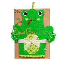 Zoochini Bath Mitt - Flippy the Frog - CanaBee Baby