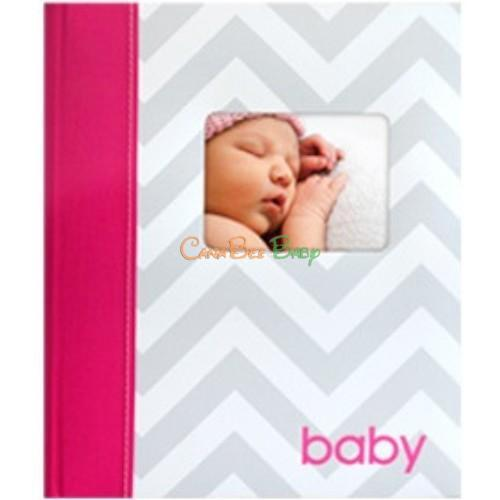 Pearhead Chevron Babybook in Pink - CanaBee Baby