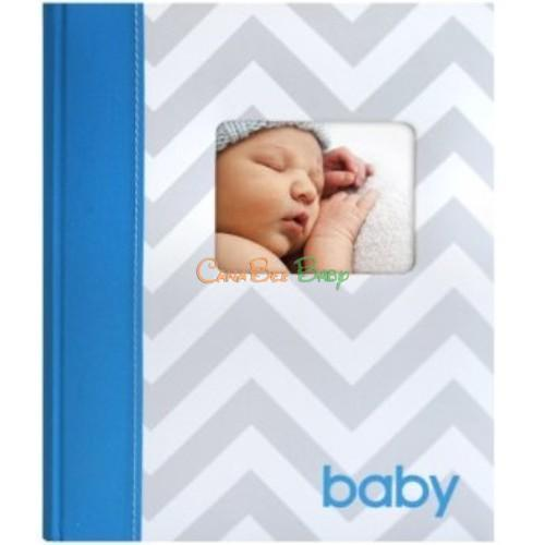 Pearhead Chevron Babybook in Blue - CanaBee Baby