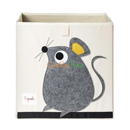 3 Sprouts Storage Box - Mouse Grey - CanaBee Baby