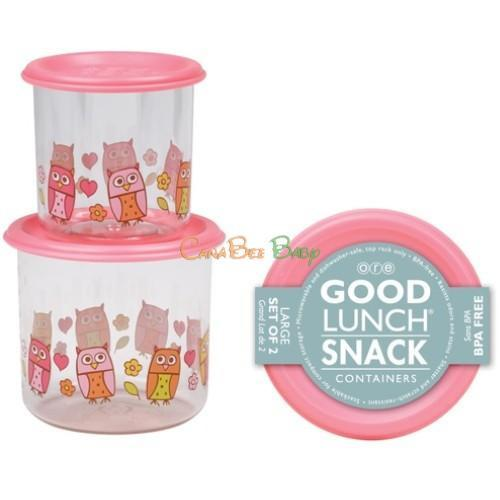 Sugarbooger Good Lunch Snack Containers Large Set-of-Two-Hoot! - CanaBee Baby