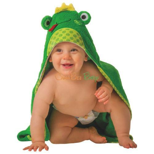 4ba51c28711 Zoocchini Baby Hooded Towel Flippy the Frog - CanaBee Baby