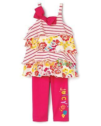 Juicy Couture Infant's Ruffled Tunic & Leggings Set - CanaBee Baby