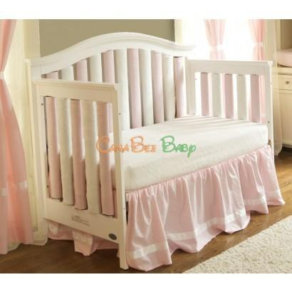 Wonder Bumpers Crib Sheet Cream Minky - CanaBee Baby