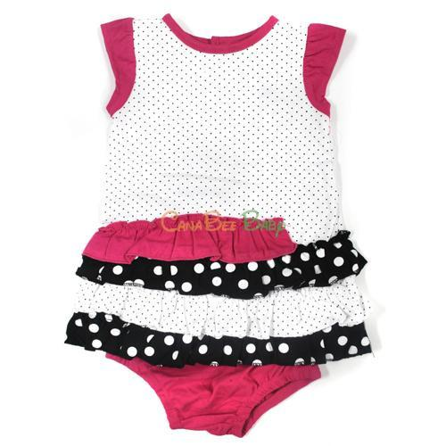 Absorba 5253 Polkadots Knit Dress/Panty - CanaBee Baby