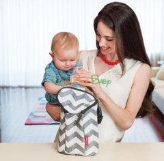 Skip Hop Grab & Go Double Bottle Bag - Chevron - CanaBee Baby