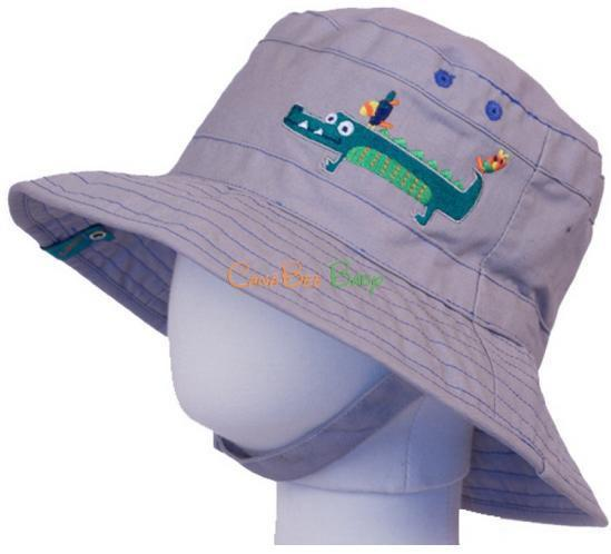 Calikids S1530 Boys Adjustable Gator Hat in Grey - CanaBee Baby
