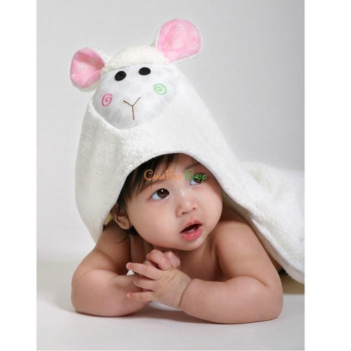 8c2b9a012e8 Zoocchini Baby Hooded Towel Lola the Lamb - CanaBee Baby
