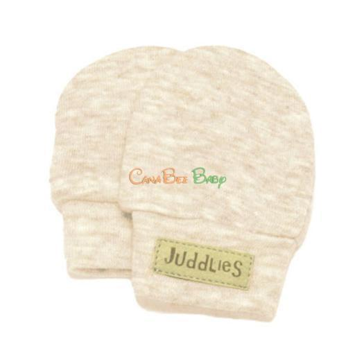 Juddlies Scratch Mitts Oatmeal Fleck - CanaBee Baby