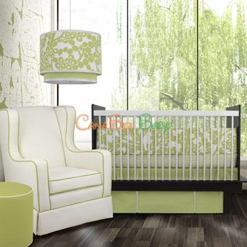 Oilo Modern Berries Crib Set - Spring Green - CanaBee Baby