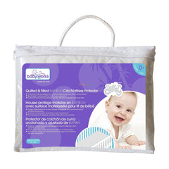Baby Works Quilted& Fitted Bamboo Mattress Protector - CanaBee Baby