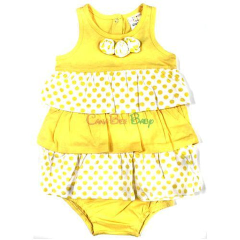 Absorba 5259 Yellow Knit Dress/Panty - CanaBee Baby