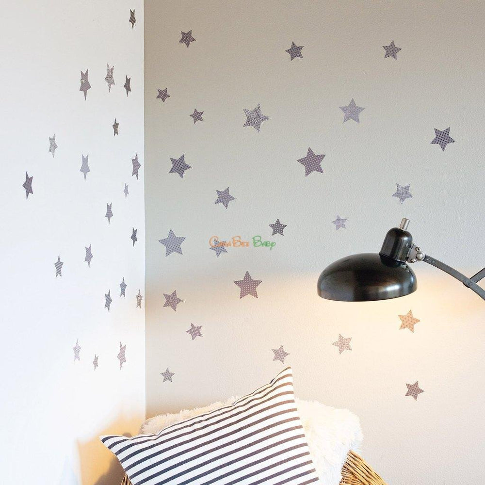 Petit Collage Stars Petit Decals - CanaBee Baby