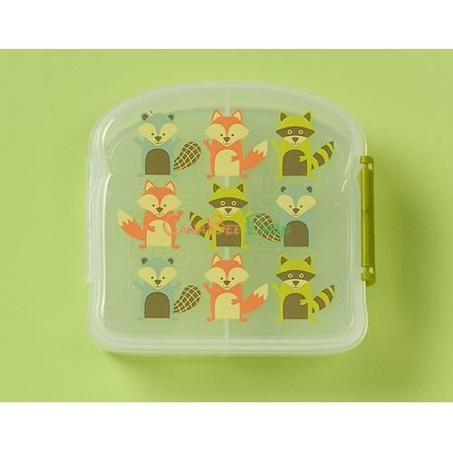 Sugarbooger Good Lunch Sandwich Box - What Did the Fox Eat - CanaBee Baby