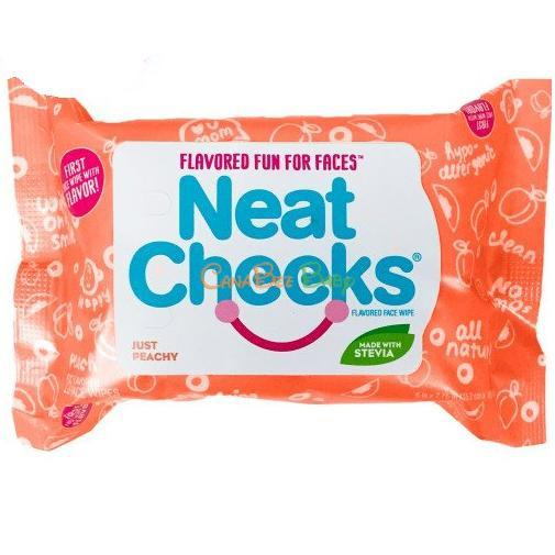 Neat Cheeks Flavored Face Wipes Peach 25pk - CanaBee Baby