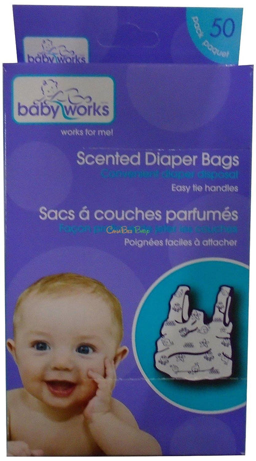 Baby Works Disposable Scented Diaper Bags 50pk - CanaBee Baby