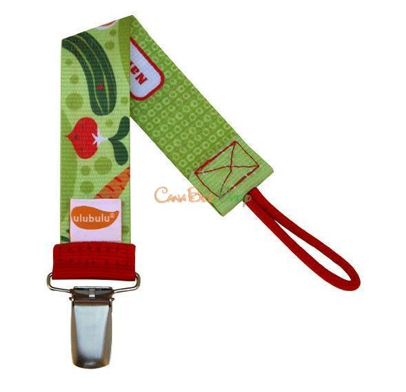 Ulubulu Pacifier Clip - Veggie Patch