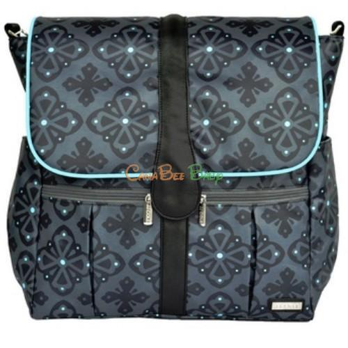JJ Cole Backpack Diaper Bag in Blue Flare - CanaBee Baby