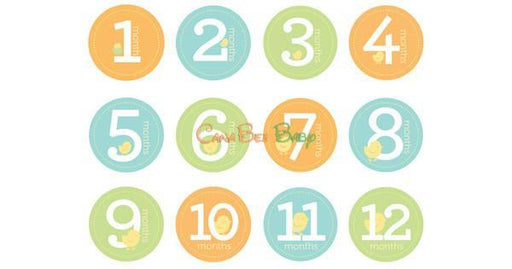Pearhead Milestone Stickers - Neutral Color - CanaBee Baby