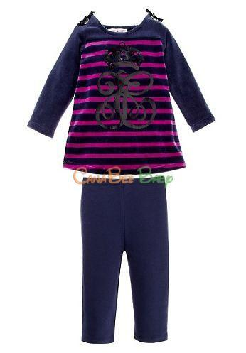 Juicy Couture Velour Stripe Top & Legging Set - CanaBee Baby