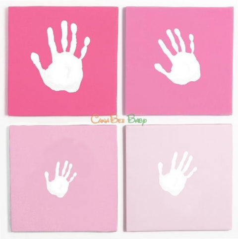 Pearhead Canvas Wall Art Handprint Set - Pink