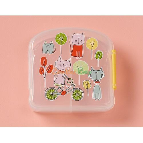 Sugarbooger Good Lunch Sandwich Box - Go Kitty Go - CanaBee Baby