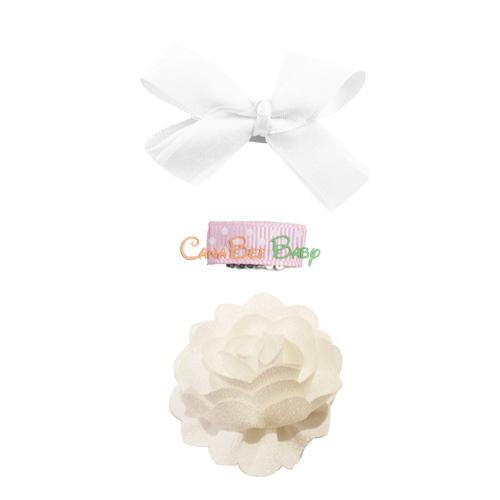 Baby Wisp Dahlia Gift Set - White - CanaBee Baby