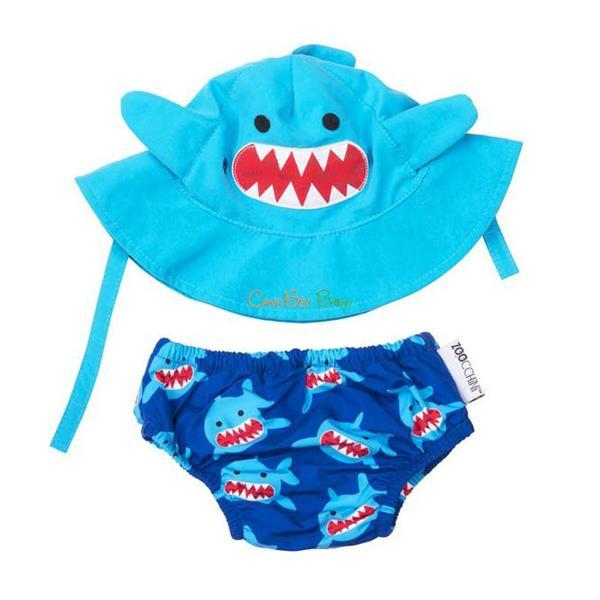 d2212b910fb Zoocchini Swim Diaper   Sun Hat Set - Shark - CanaBee Baby