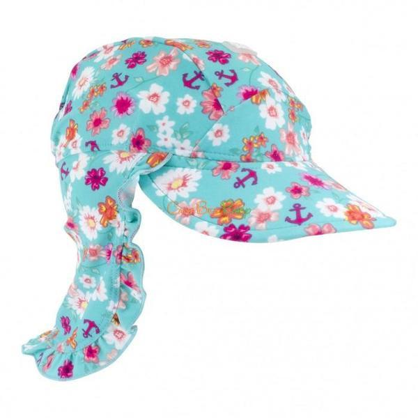 Baby Banz Flap Hat Floral - CanaBee Baby