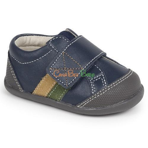 See Kai Run Randall Navy Leather - CanaBee Baby