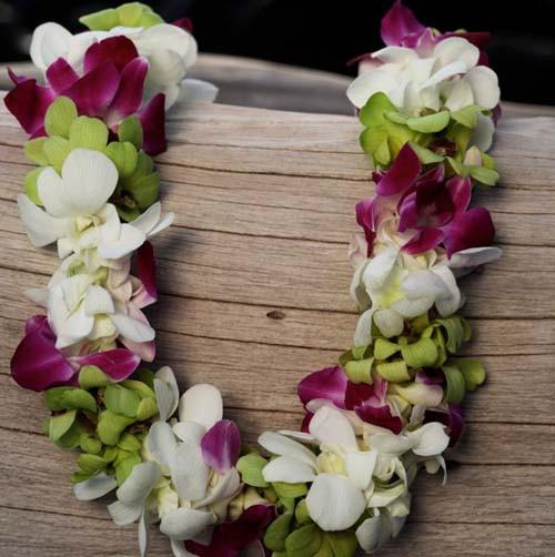 3-Color Double Orchid Lei