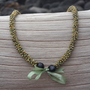 green mongo shell lei hawaii