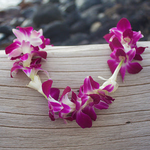 Tuberose and Orchid Lei, fresh Lei, Hawaiian Lei, Hawaiian leis