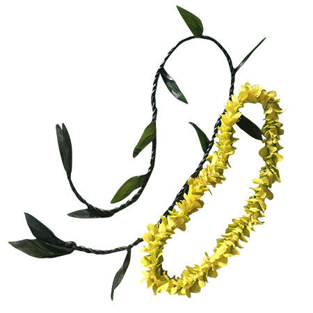 Single Ti Leaf/Green Lei combo (10pc)