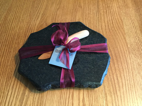 Granite Cutting Board and Hardwood Knife
