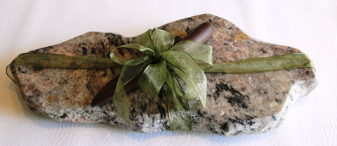 Granite Cutting Board/Chiller and Hardwood Knife