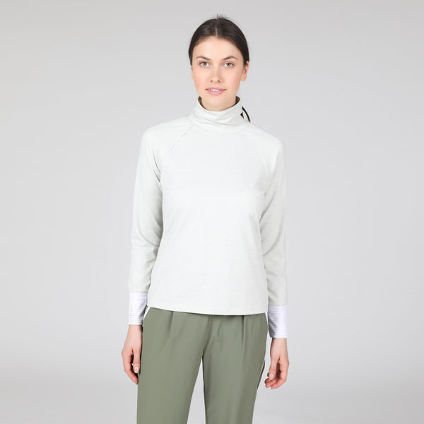 Brush Knit Heathered Turtleneck