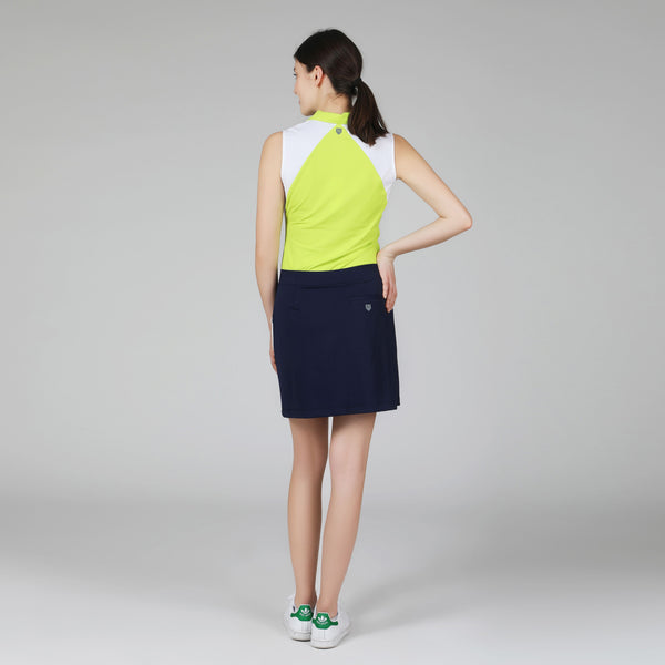Mesh Colorblock Golf Skort