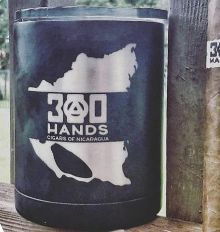 300 HANDS Laser Etched Logo, Lowball Tumbler (RTIC)
