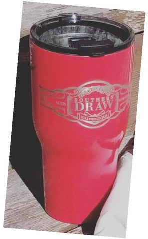 SDC, LIMITED EDITION, LASER ETCHED, RTIC TUMBLER, RED, 30 oz.