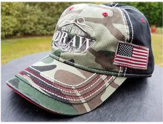 Limited Release - SDC Embroidered, Camo, Red, White & Black- USA Edition hat