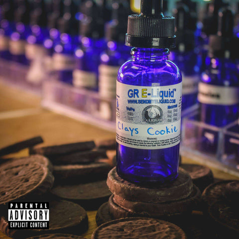 "Clay's ""Half-Vaped"" Cookie Vape Juice - Grand Rapids E-Liquid"