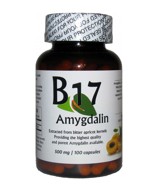 Vitamin B17 Amygdalin 500mg 100 Capsules / Plus Enzyme Complete Free