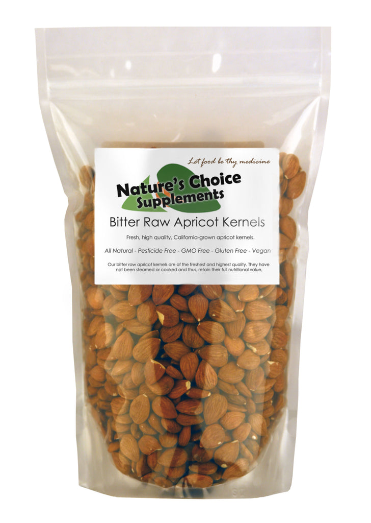 Bitter Apricot Kernels, 1 Pound [ 750 Raw All Natural Seeds ] California Grown