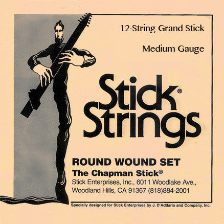 12-String Grand Stick Set: Medium Gauge