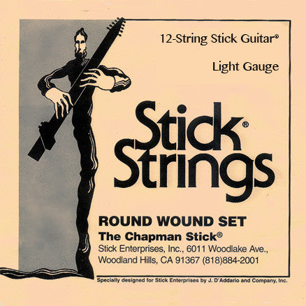 Stick Guitar® Light Gauge String Set (recommended, select tuning)
