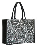 Contrast Black Laminated Juco Supermarket Bag