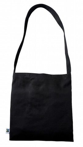 Sample Black Fairtrade Cotton Messenger Bag