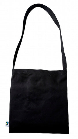 Black Fairtrade Cotton Messenger Bag