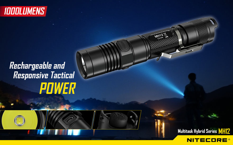 NITECORE MH12 Rechargeable LED Flashlight 1000 Lums